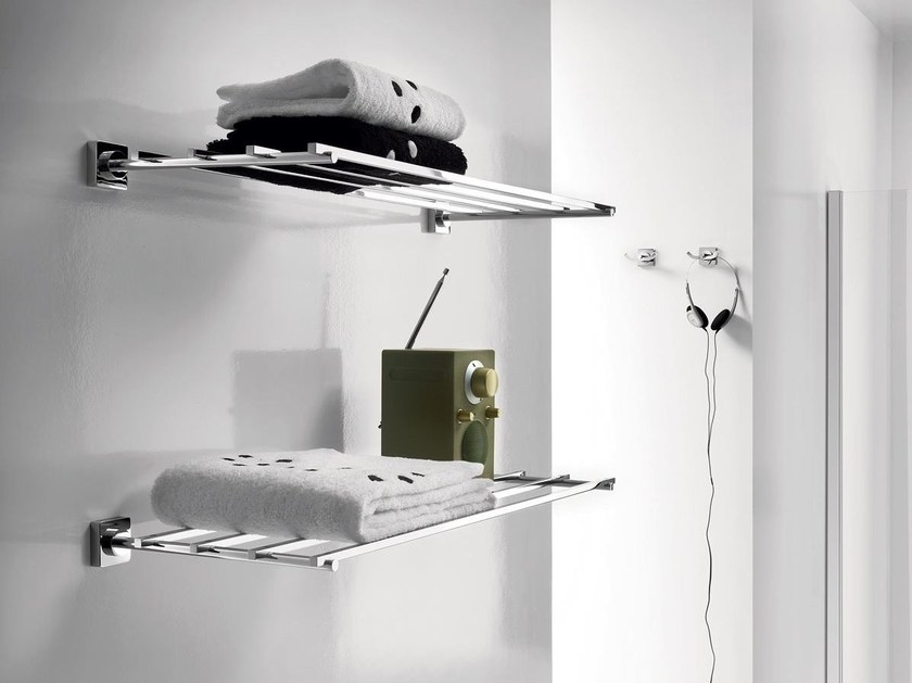 Metal bathroom wall shelf QUADRO | Bathroom wall shelf by INDA®