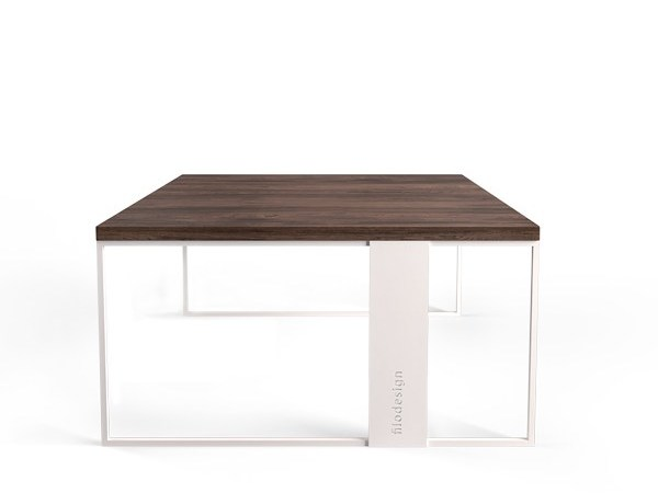 Carrara marble coffee table for living room QUADRO by Filodesign