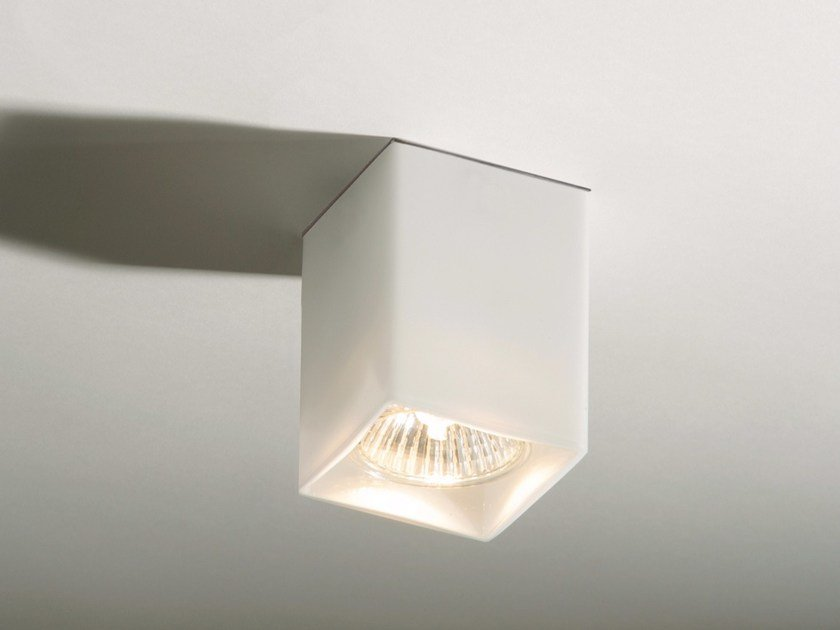 Lampada da soffitto in vetro QUADRO by Top Light