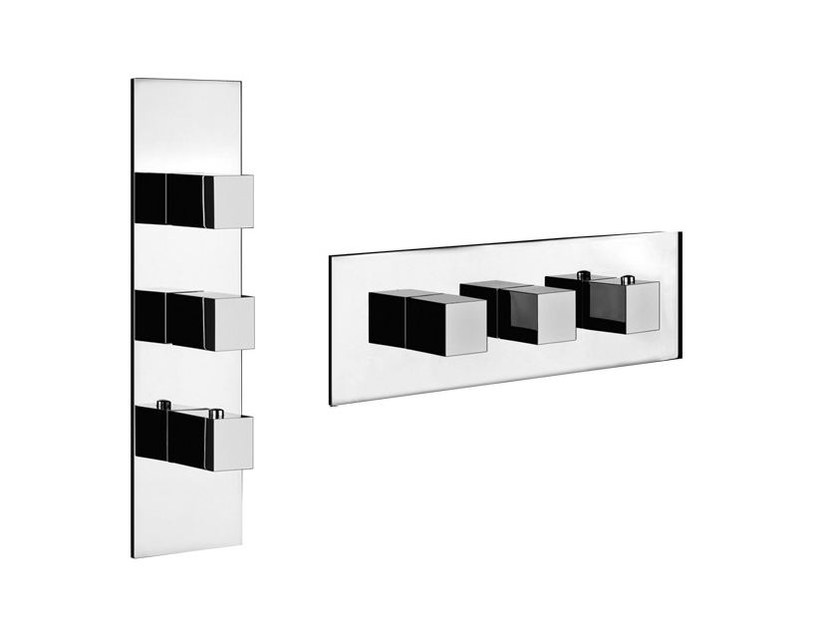 3 hole thermostatic shower mixer QUADRO WELLNESS 43004 by Gessi