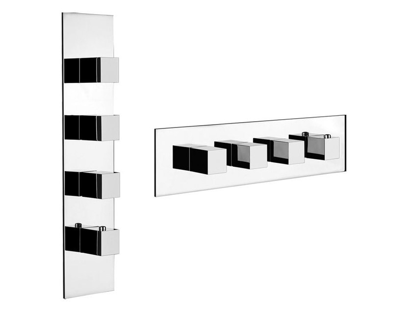 4 hole thermostatic shower mixer QUADRO WELLNESS 43006 by Gessi
