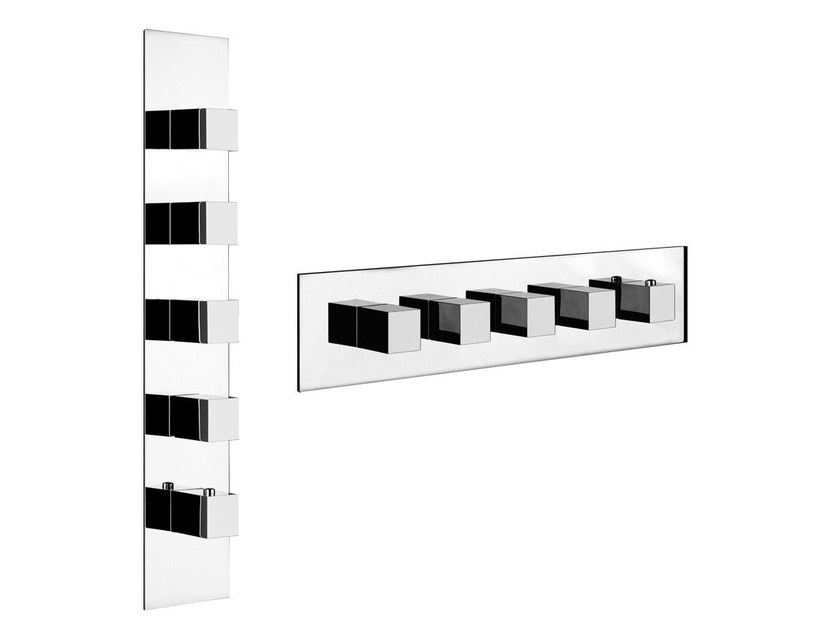 5 hole thermostatic shower mixer QUADRO WELLNESS 43008 by Gessi