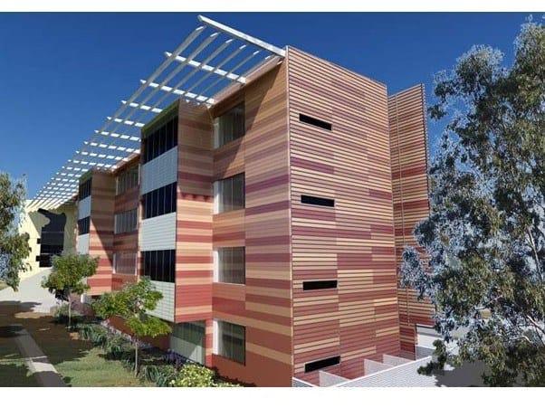 Aluminium Panel for facade QUADROCLAD® HONEYCOMB by HunterDouglas Architectural