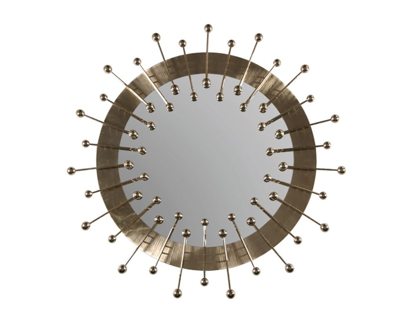 Round wall-mounted mirror QUANTUM | Mirror by Delightfull
