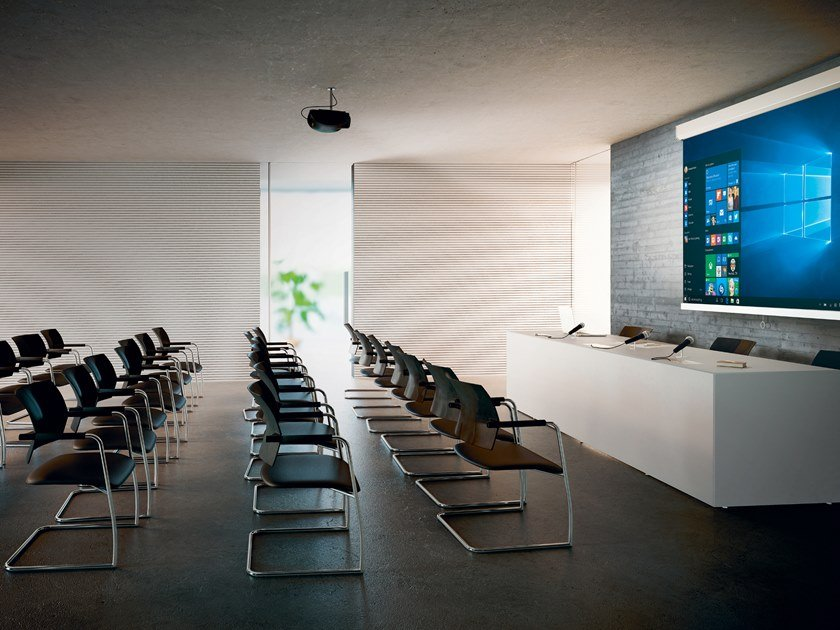 Rectangular MDF conference table with cable management QUARANTA5 by FANTONI