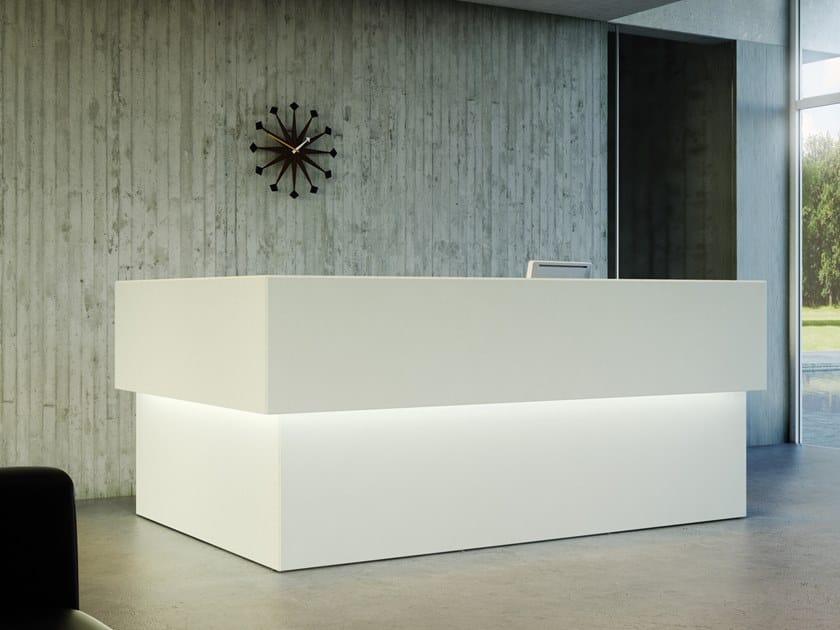 Banco reception per ufficio con illuminazione quaranta5 banco