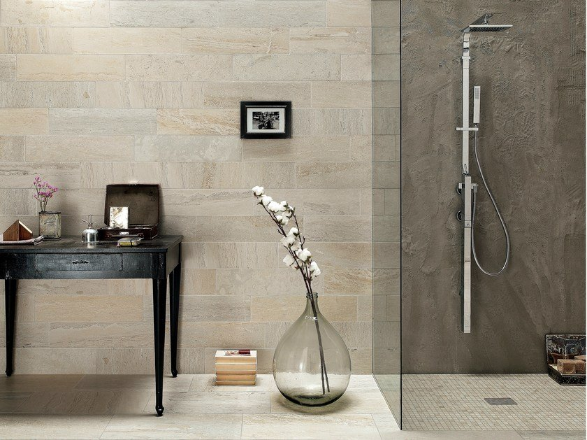 Porcelain stoneware wall/floor tiles with stone effect QUARRY CREAM by ASTOR CERAMICHE
