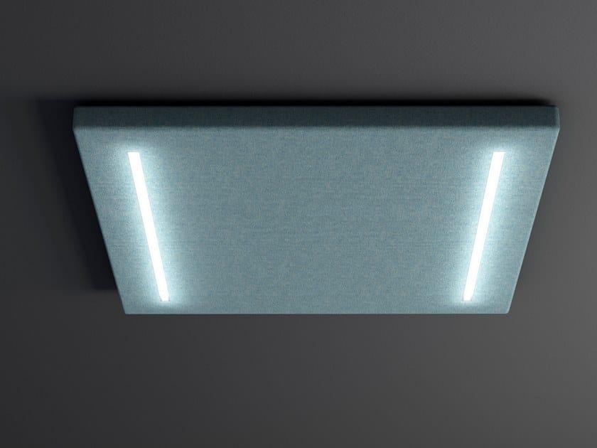 Pannello acustico a parete in feltro con illuminazione integrata QUARTETTO | Pannello acustico a parete con illuminazione integrata by LvB Acoustics