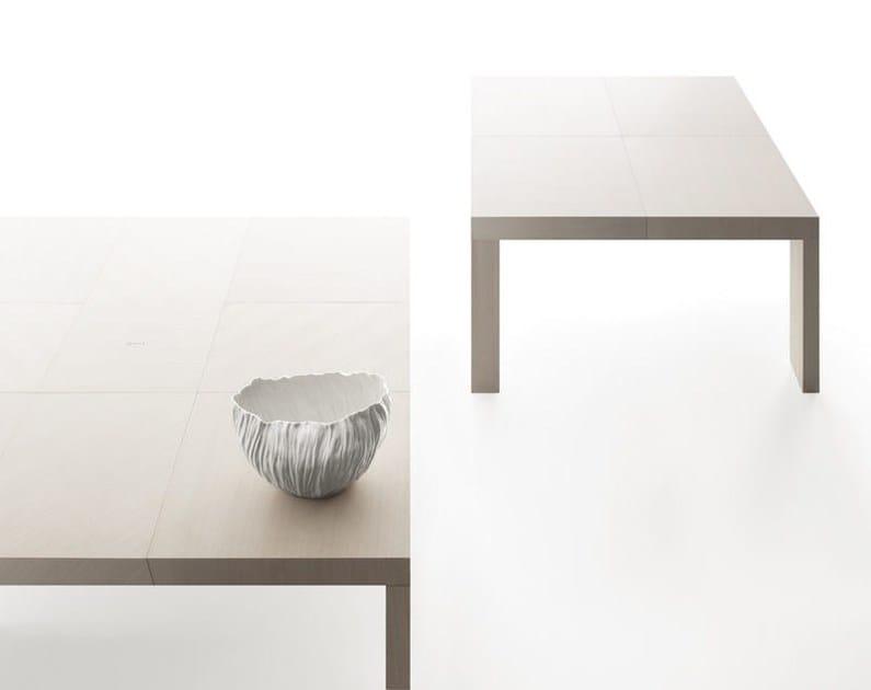 Tavolo allungabile quadrato in legno QUARTETTO - Bauline