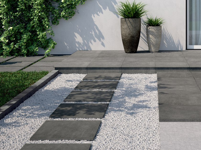 Full-body Porcelain Stoneware Outdoor Floor Tiles With Stone Effect QUARZ DESIGN By Pastorelli