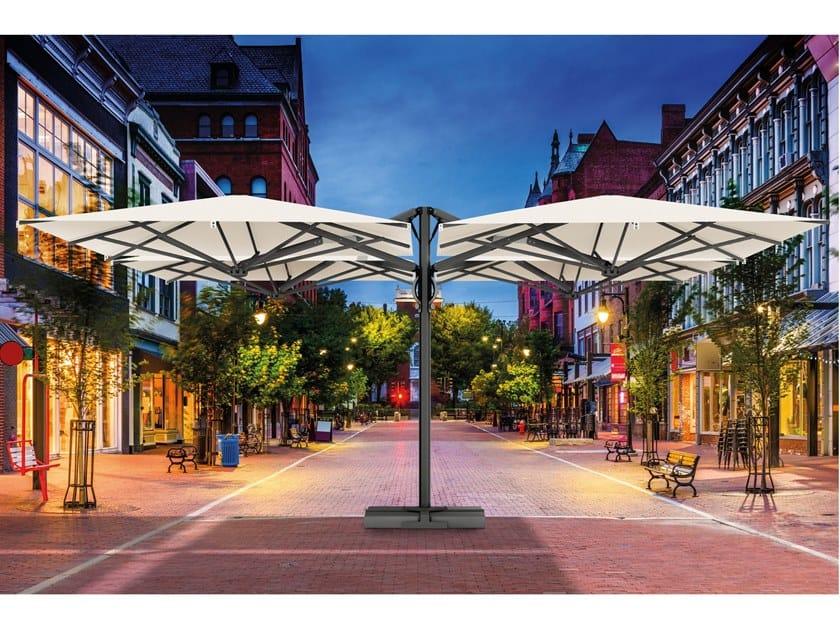 Multiple square Garden umbrella QUATTRO CARBON/STARWHITE by Scolaro Parasol