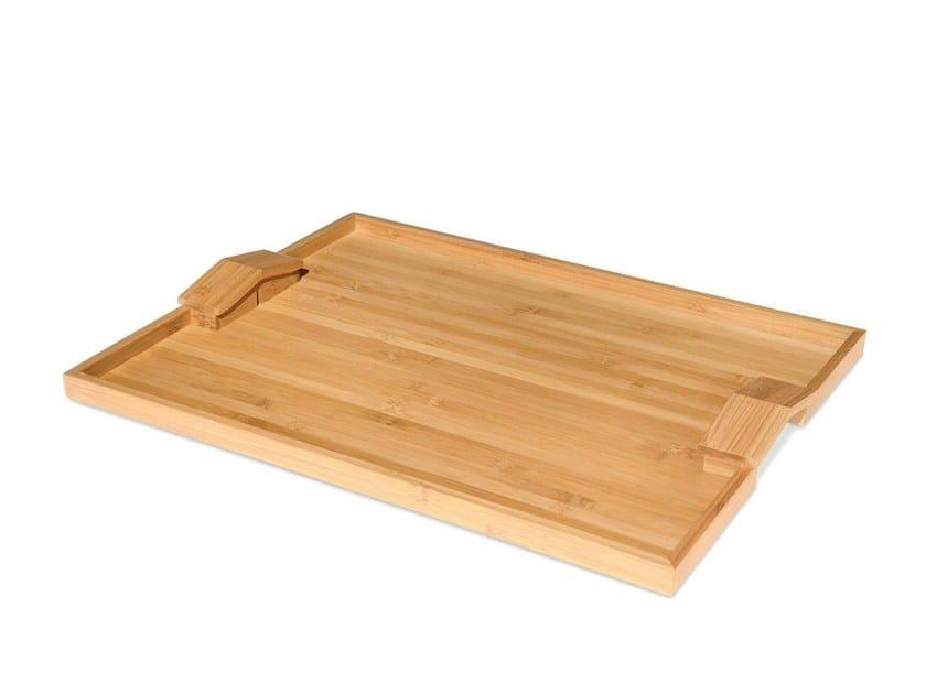 Bamboo tray QUATTRO MURI E DUE CASE by Alessi