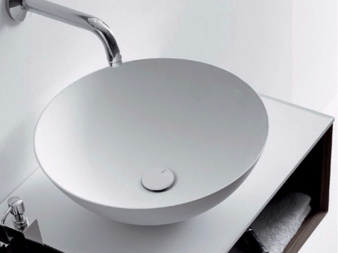 Countertop round Ceramilux® washbasin QUATTRO.ZERO   Countertop washbasin by FALPER