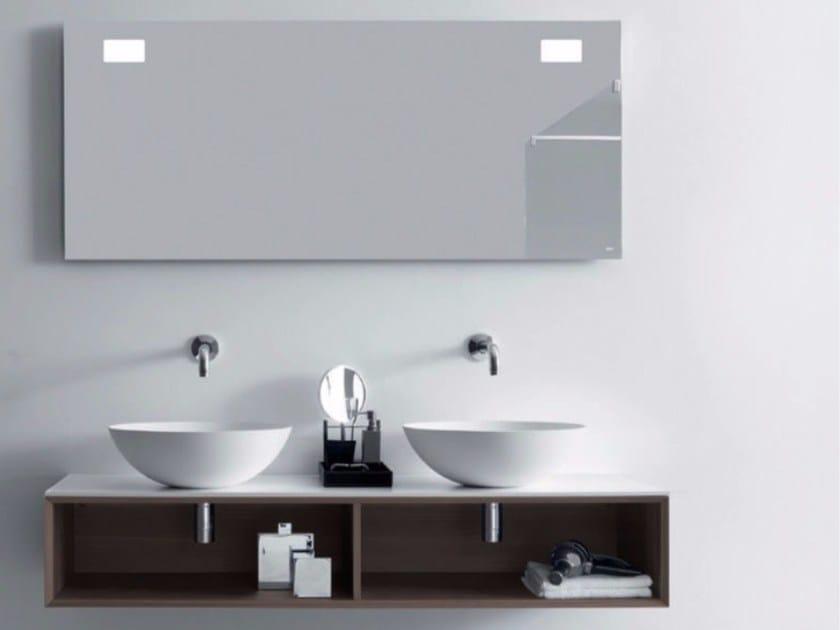 Double wall-mounted wooden vanity unit QUATTRO.ZERO | Double vanity unit by FALPER