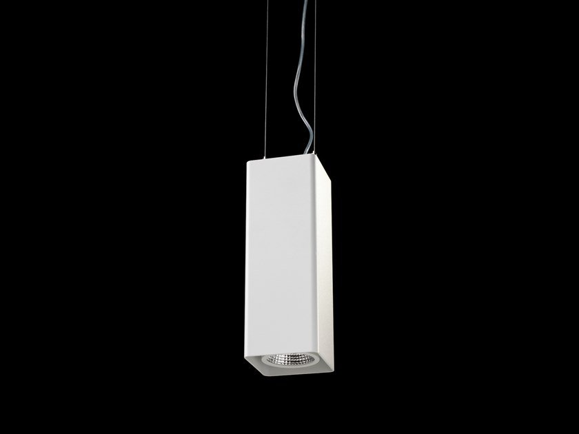 LED direct light powder coated aluminium pendant lamp QUBE AIR by LUNOO