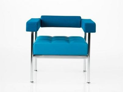 Upholstered armchair with armrests QUBIQ | Armchair by Diemme