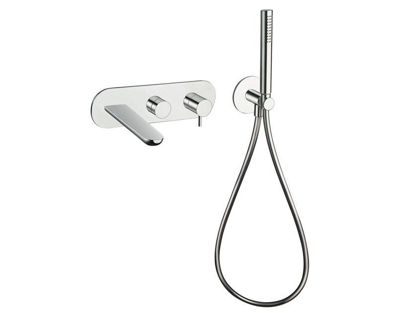 Single handle bathtub set with hand shower QUEEN CRIQE103 by CRISTINA Rubinetterie