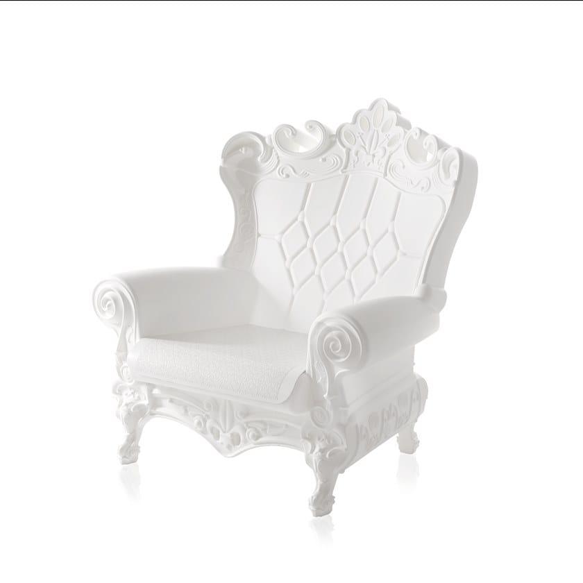 Poltrone In Plastica Stile Barocco.Poltrona Capitonne In Plastica In Stile Moderno Per Contract Queen