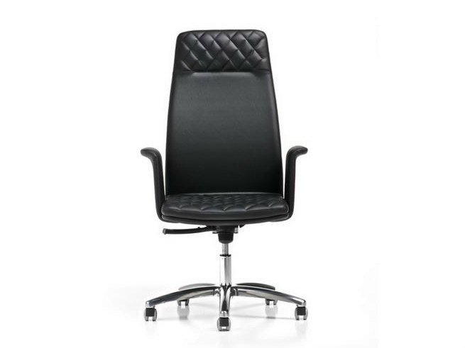Executive chair with 5-spoke base with armrests QUEEN | Executive chair with headrest by Diemme