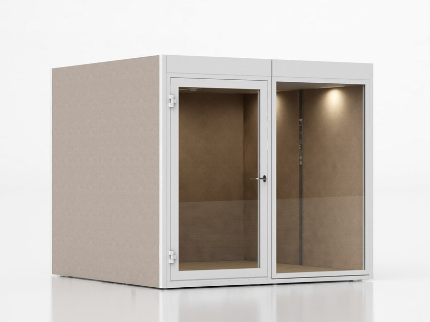 Acoustic wooden office booth QUIETPOD by Glimakra of Sweden
