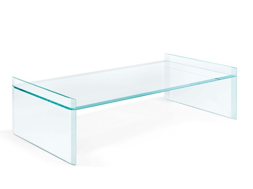 Low rectangular coffee table QUILLER | Rectangular coffee table by Tonelli Design