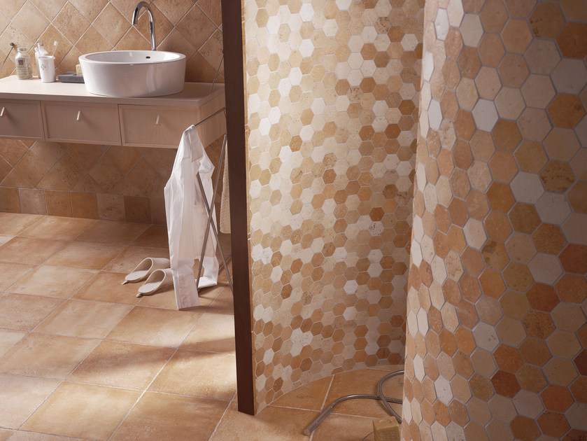 Glazed stoneware wall tiles with terracotta effect QUINTANA | Wall tiles by Serenissima