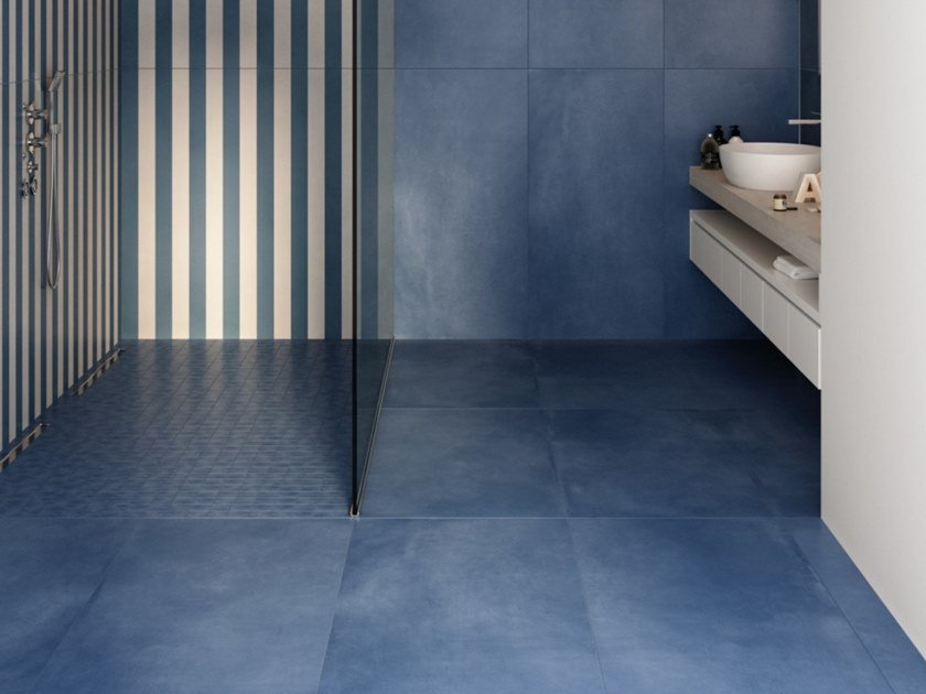Porcelain stoneware wall/floor tiles with concrete effect R- EVOLUTION by Casalgrande Padana