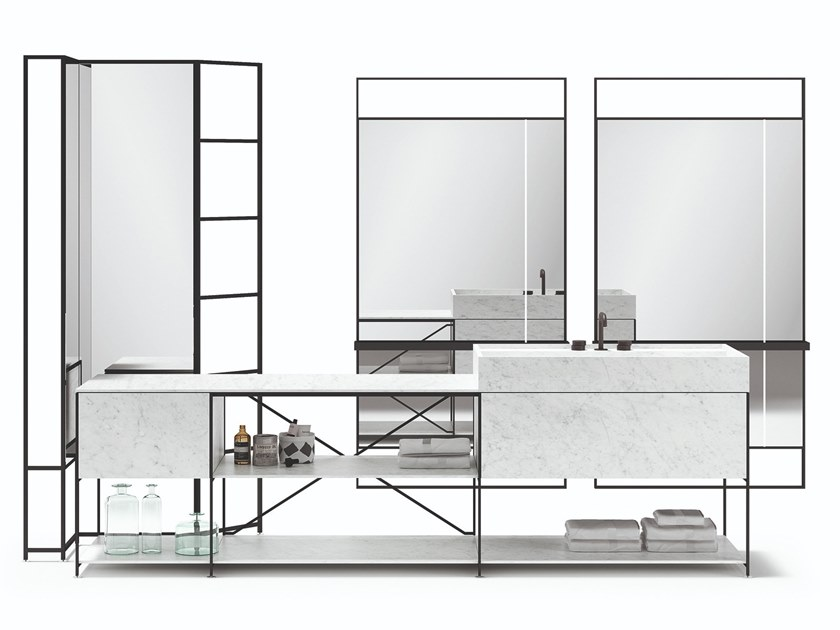 Sectional vanity unit R.I.G. MODULES - BATHROOM by MA/U STUDIO
