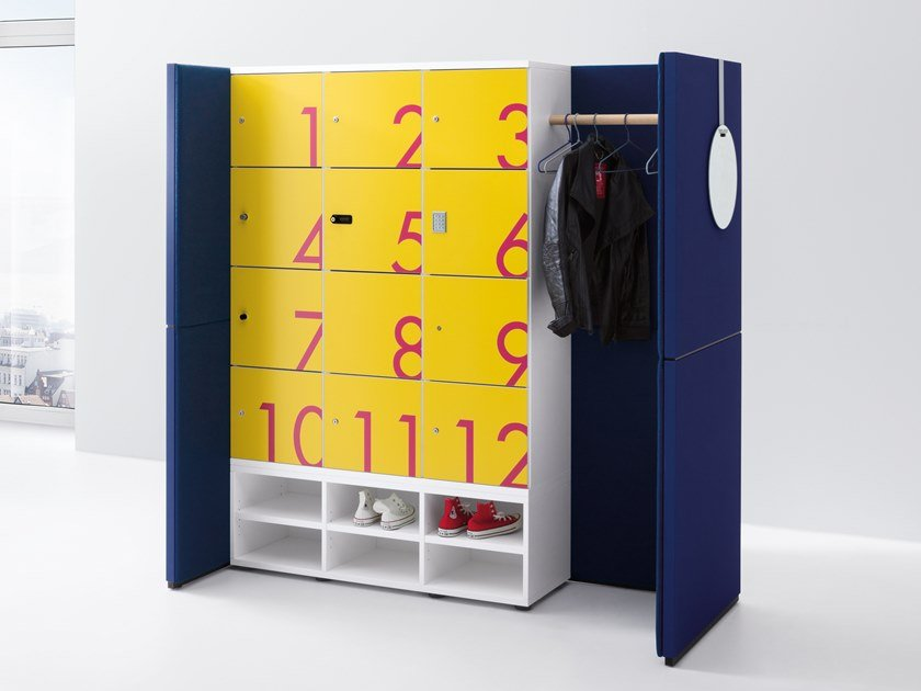 Coat rack / safe-deposit box R-MODUL by werner works