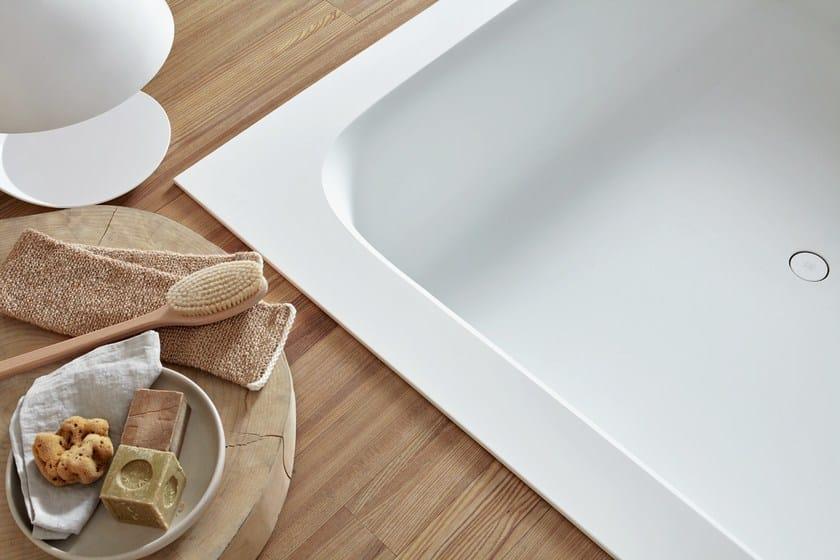 Vasca da bagno quadrata in Corian® da incasso R1 | Vasca da bagno da ...