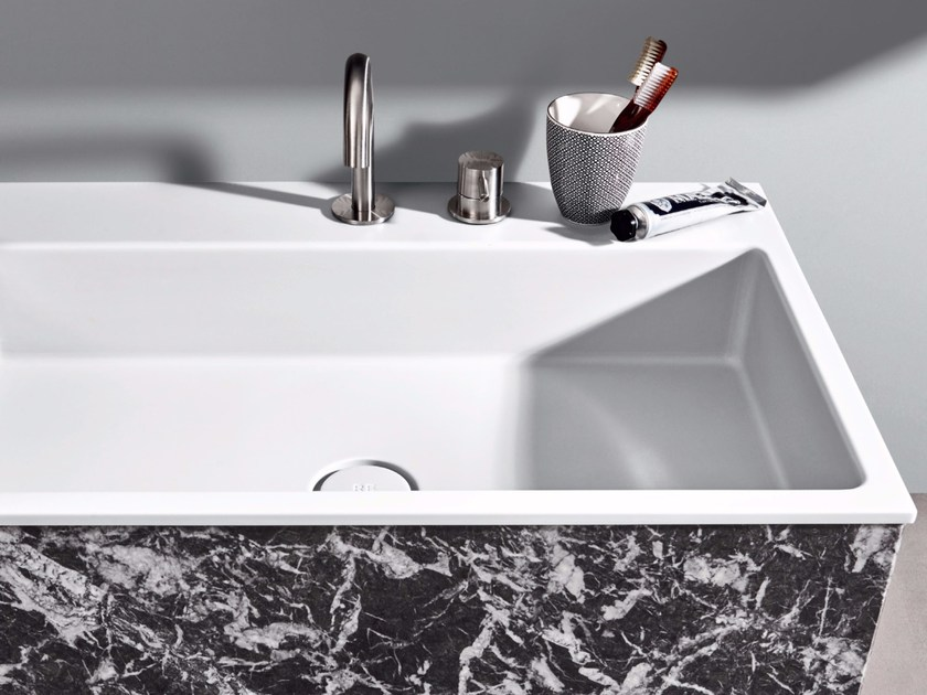Inset rectangular Corian® washbasin R1 | Inset washbasin by Rexa Design