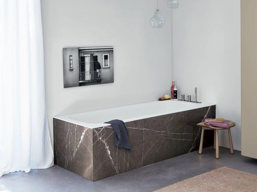 Rectangular Corian® bathtub R1 PANNELLABILE by Rexa Design