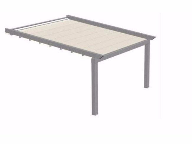 Wall-mounted fabric pergola R230 PERGOMASTER by BT Group