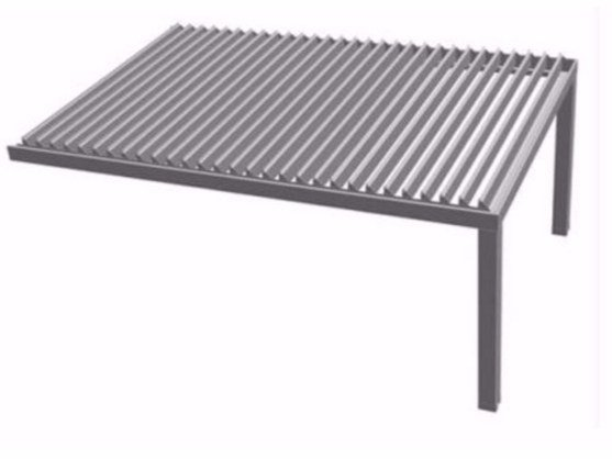 Aluminium pergola with adjustable louvers R610 PERGOKLIMA by BT Group