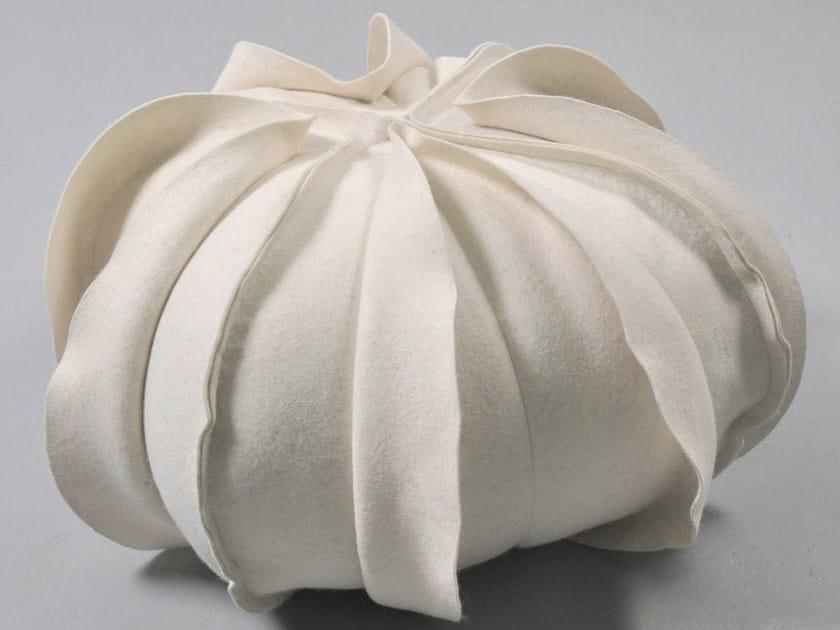 Wool felt pouf RAASBLAAR by Ronel Jordaan