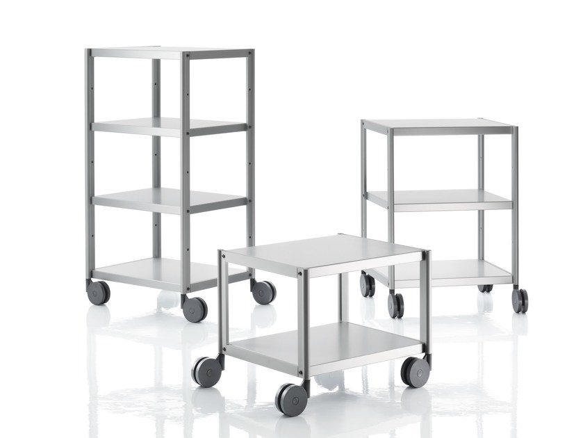 Aluminium food trolley RACK by Magis