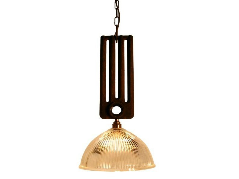 Direct light handmade pendant lamp RAD HOLOPHANE PENDANT by Mullan Lighting