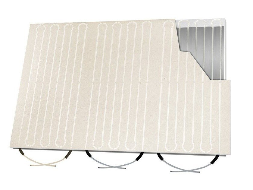 Plate Radiant wall panel / Radiant ceiling panel RADIAL TOP W by Isolconfort