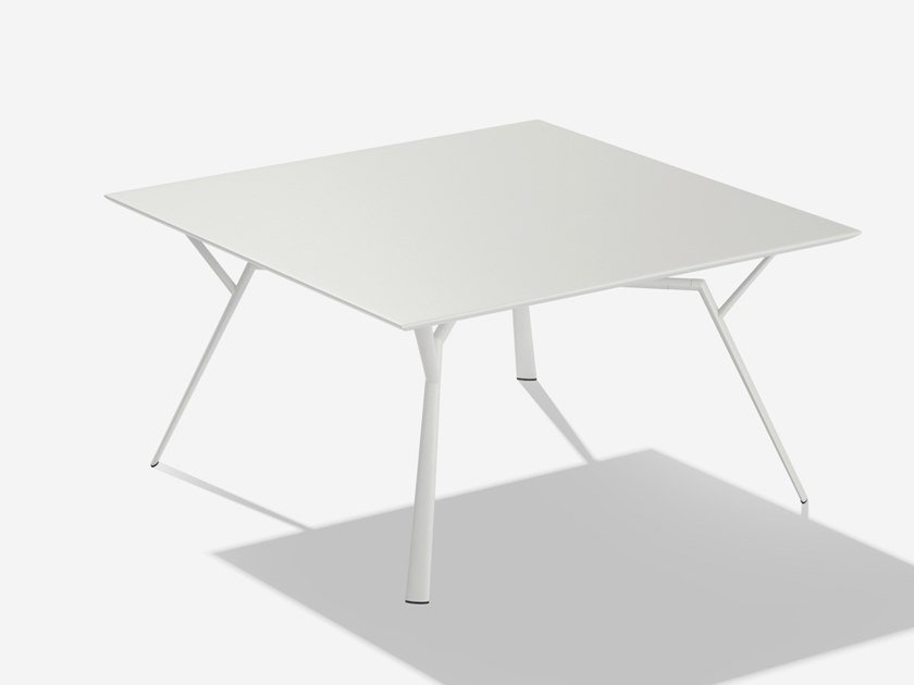 Square aluminium garden table RADICE QUADRA | Square table by FAST