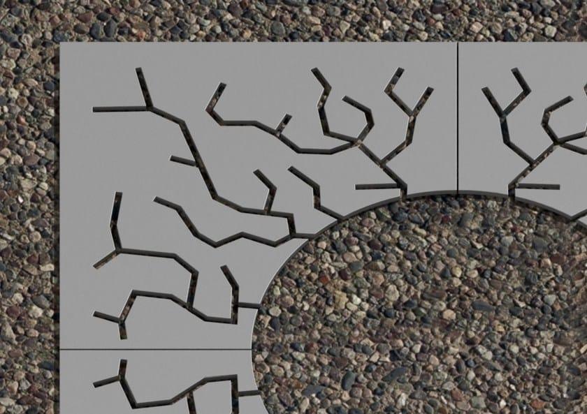 Griglia per alberi in acciaio RADICI by LAB23