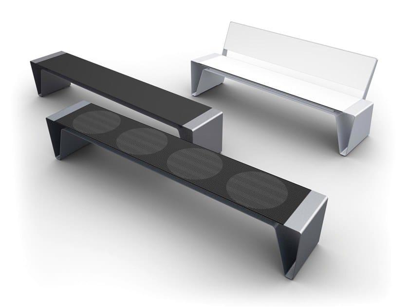 RADIUM | Panchina in acciaio zincato
