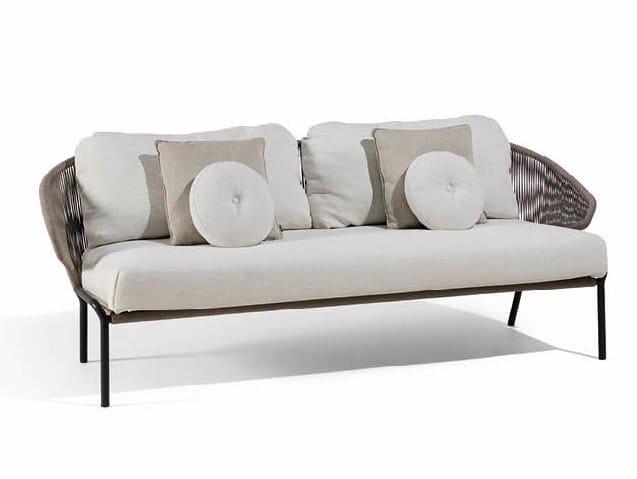 2 seater rope garden sofa RADIUS | 2 seater garden sofa by MANUTTI