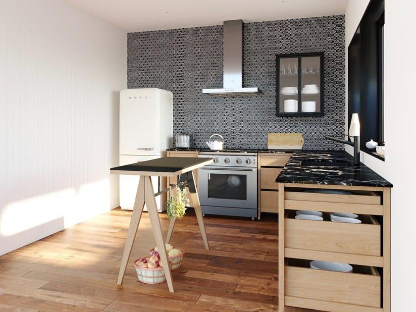 Modulo cucina freestanding componibile in legno massello RADIX ...