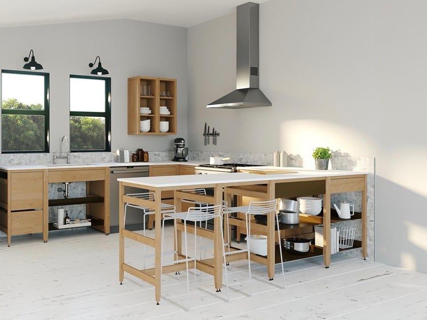 Modulo cucina componibile in legno con falso cassetto RADIX | Cucina ...
