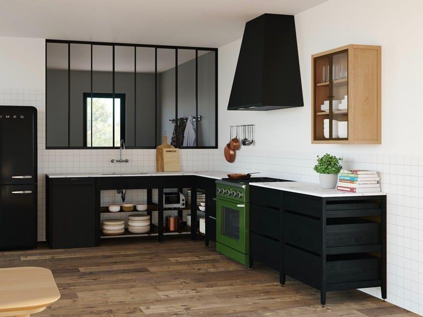 Modulo cucina freestanding in legno massello RADIX | Mobile per ...
