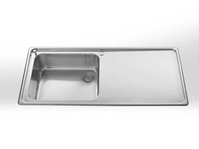 Single built-in stainless steel sink BUILT-IN SINKS RADIUS 60 by ALPES-INOX