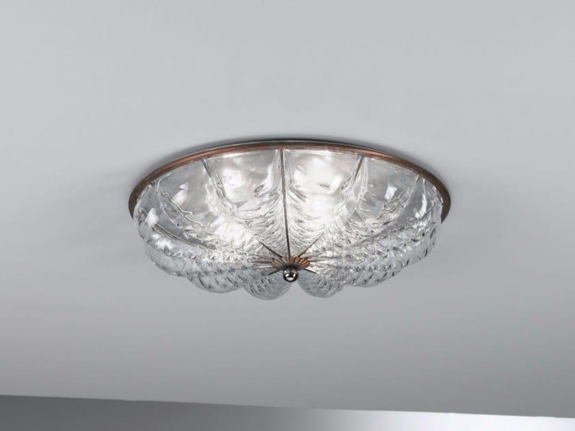 Plafoniera Per Bagno Murano : Plafoniera in vetro di murano raggio mc by siru