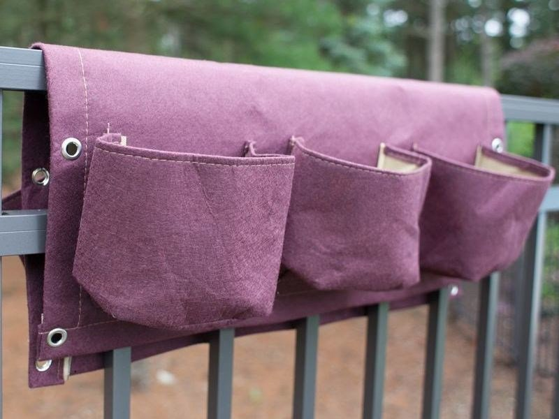 Fabric planter RAIL POCKET PLANTER by Onek