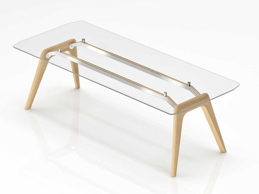 Rectangular glass executive desk RAIL | Glass office desk by Bralco