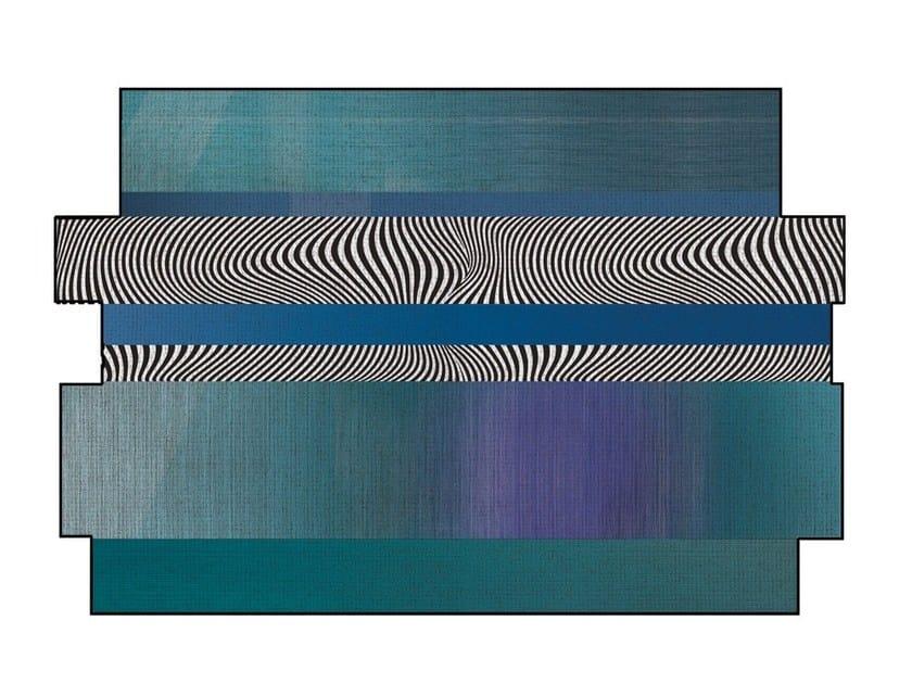 Polyamide rug RAINBOW CASTLE CIELO by Adriani e Rossi edizioni
